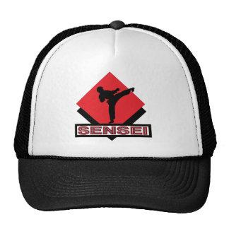 Sensei red diamond gift trucker hat