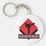 Sensei red diamond gift key chain
