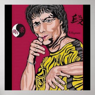 Sensei Richard A. Heyman original artwork portrait Poster