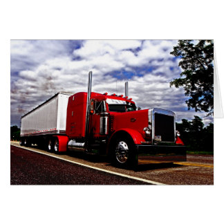 Sensenig Red Peterbilt 379 Note Card