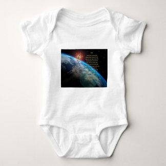 Senses poem, earth, budda, merkaba,  space art baby bodysuit