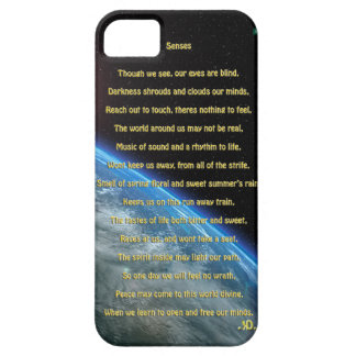 Senses poem, earth, budda, merkaba,  space art iPhone SE/5/5s case