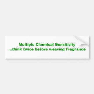 Sensibilidad química múltiple etiqueta de parachoque