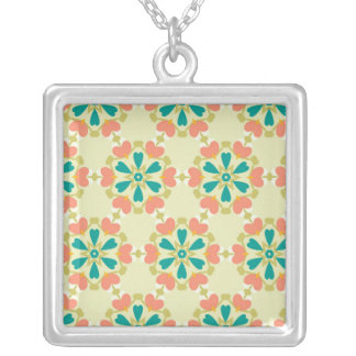 Sensible Honored Enthusiastic Okay Square Pendant Necklace