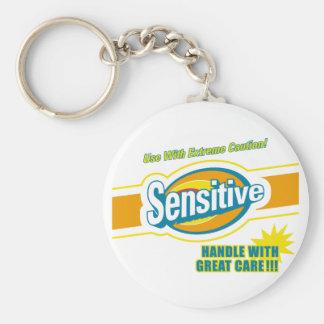 Sensitive Basic Round Button Keychain
