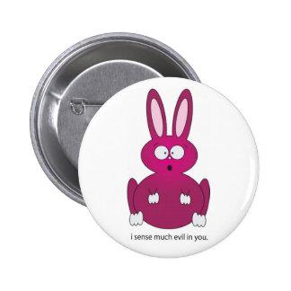 sensitive bunny pinback button