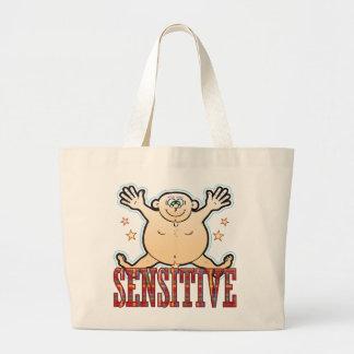 Sensitive Fat Man Large Tote Bag
