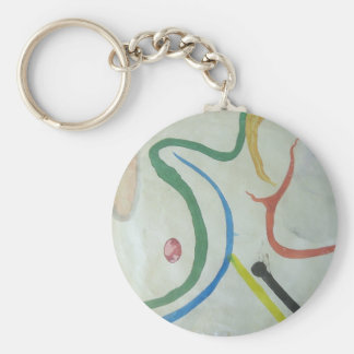 Sensitivity Basic Round Button Keychain