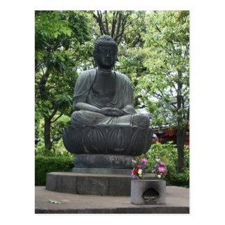 sensō-ji buddha post card