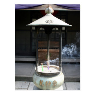 sensō-ji incense postcard