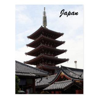 sensō-ji pagoda postcards