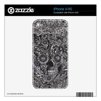 Sensory Overload Skull Skin For The iPhone 4