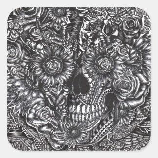 Sensory Overload Skull Square Sticker