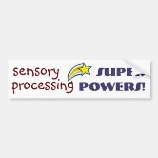 Sensory Power! Yellow Star Bumper Sticker