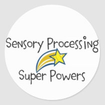 Sensory Power! Yellow Star Classic Round Sticker