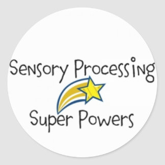 Sensory Power! Yellow Star Classic Round Sticker