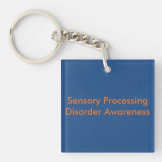 Sensory Processing Disorder Awareness Keychain