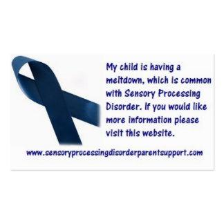 Sensory Processing Disorder Meltdown Cards