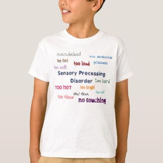 Sensory Processing Disorder Text T-Shirt