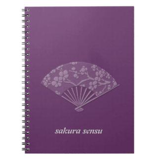 sensu de Sakura Libros De Apuntes Con Espiral