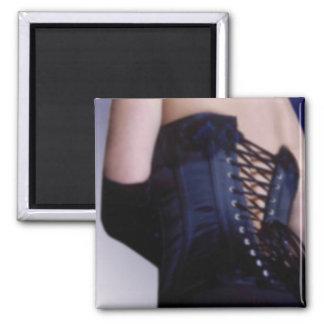 Sensual Blue Corset Art Magnet