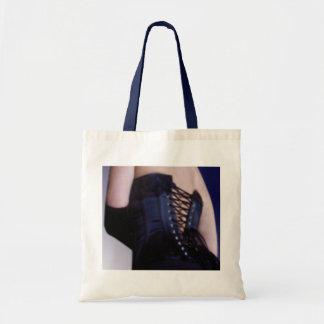 Sensual Blue Corset Art Tote Bag