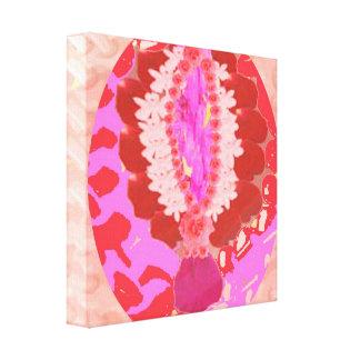 Sensual - diseño basado pétalo de RedRose PinkRose Lona Envuelta Para Galerias