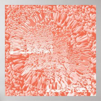 Sensual  Floral Wave design with Flower Petals Print