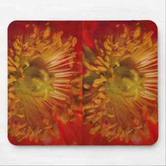 Sensual Heart of Flower Pollen Laden : Greetings Mouse Pad