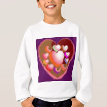 Sensual Tickle Heart Wave Pattern Sweatshirt