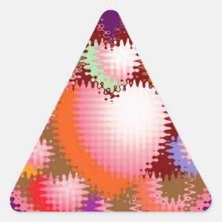 Sensual Tickle Heart Wave Pattern Triangle Sticker