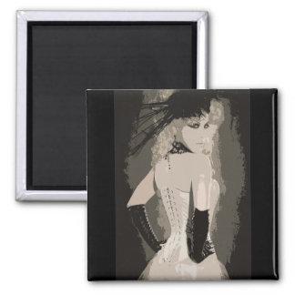 Sensual Vintage Corset Art Magnet