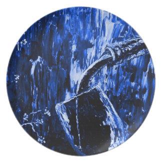 Sensual Wine Series in Blue Plate