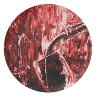 Sensual Wine Series In Red Plate