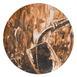 Sensual Wine Series Orange Plate