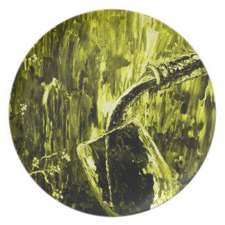 Sensual Wine Series Yellow Plate