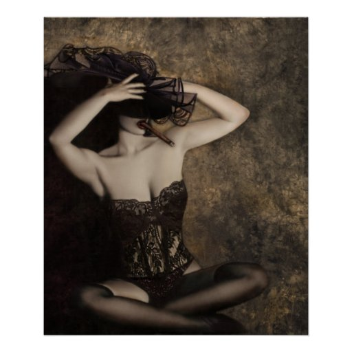 Sensuality in Sepia - Self Portrait Posters