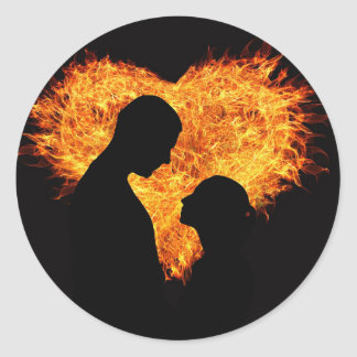 Sensuous Love Classic Round Sticker