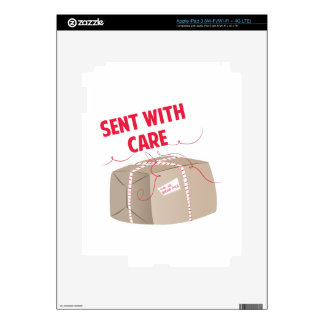 Sent With Care iPad 3 Decal