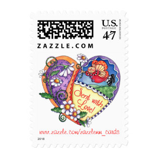 Sent with Love - Postage Stamp
