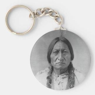 Sentada americana Bull del jefe indio de Lakota Llavero Redondo Tipo Pin