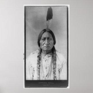 Sentada americana Bull del jefe indio de Lakota Impresiones