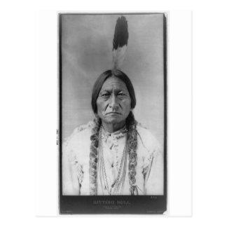 Sentada americana Bull del jefe indio de Lakota Tarjetas Postales