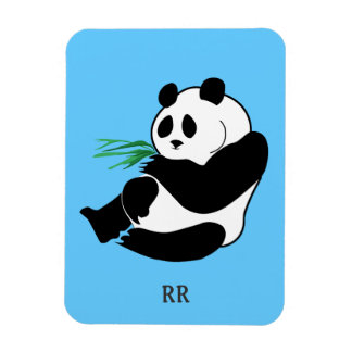 Sentada blanco y negro de la panda, imán flexible
