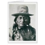 Sentada Bull (1831-1890) (foto de b/w) Felicitaciones