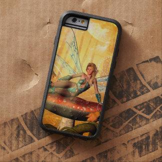 Sentada de hadas hermosa en una seta funda para  iPhone 6 tough xtreme