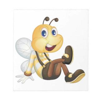 Sentada de la abeja bloc de papel