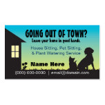 Sentada de la casa/del mascota y tarjeta de visita