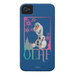 Sentada de Olaf iPhone 4 Case-Mate Protectores