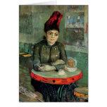 Sentada de Van Gogh Agostina Segatori, café Tambou Felicitación